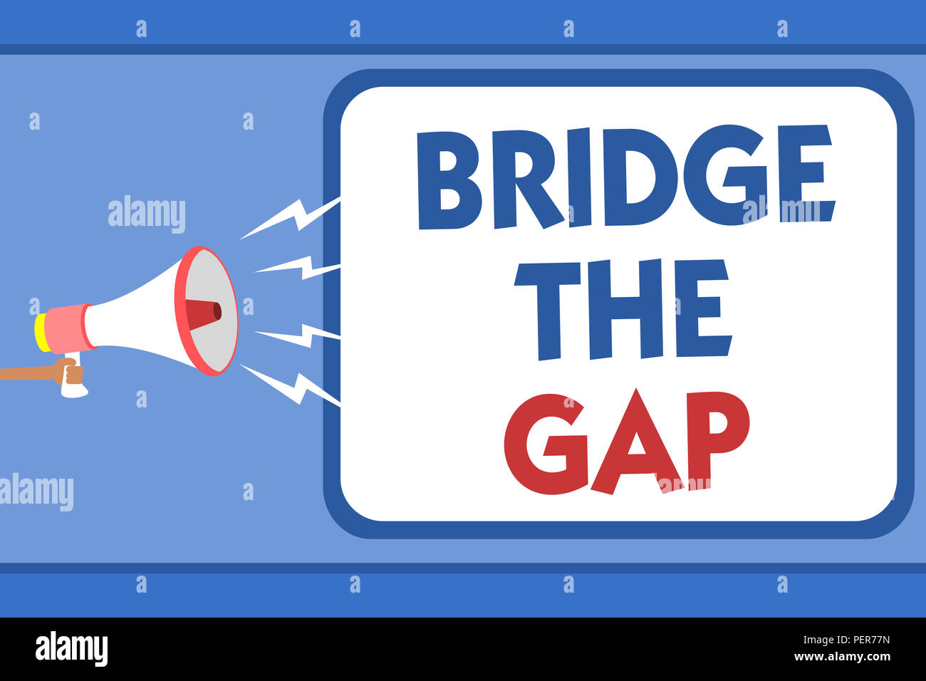 Text Sign Showing Bridge The Gap Conceptual Photo Overcome The