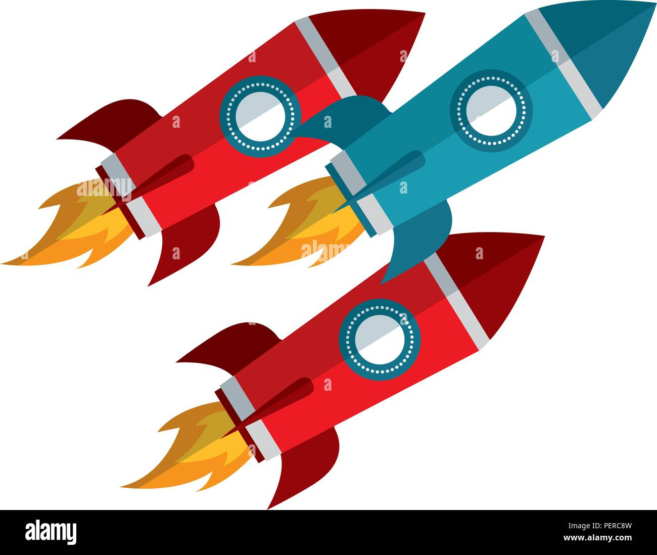 startup rockets isolated icon - Stock Image