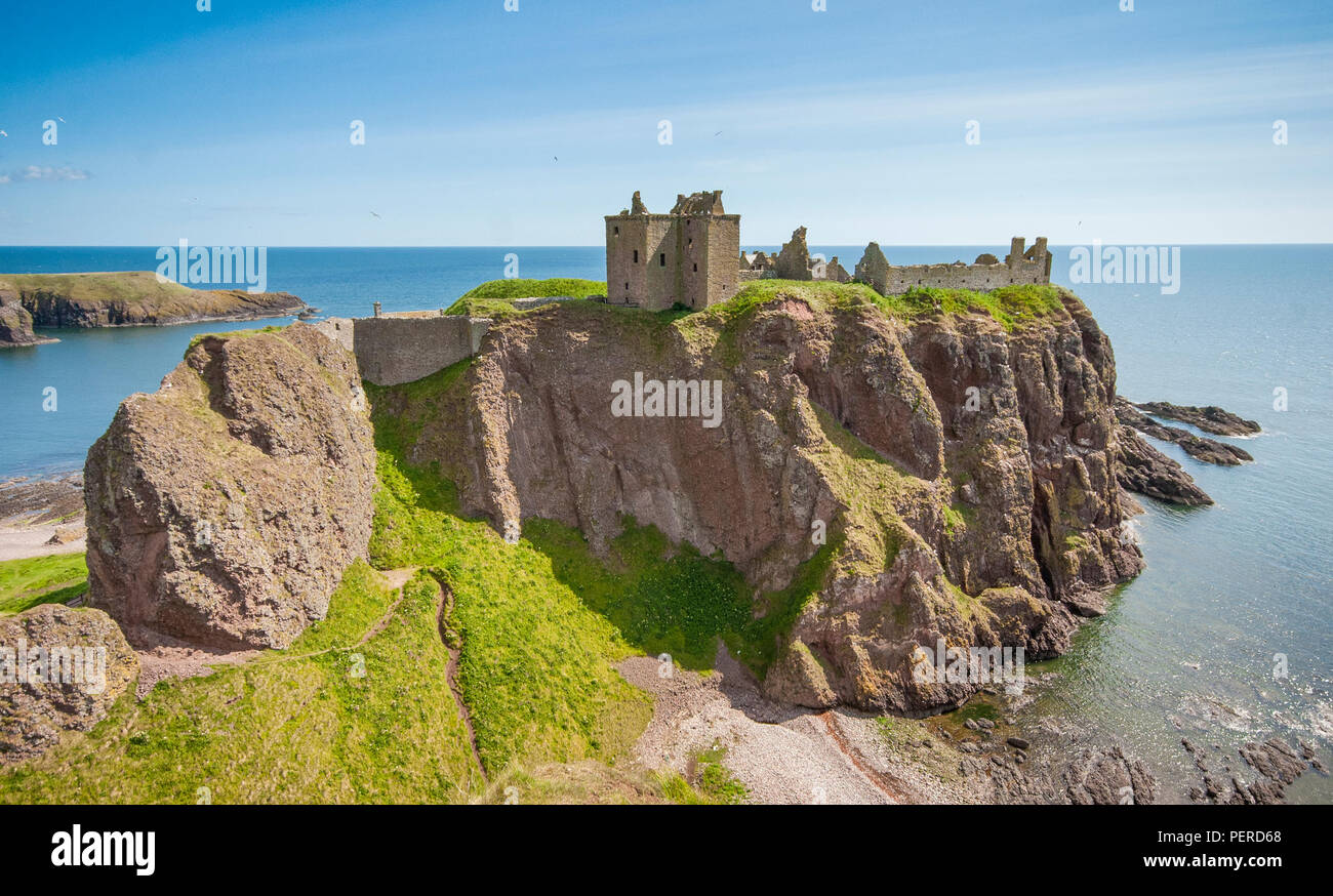 Dunnottar Castle in Aberdeenshire, Scotland. - Stock Image