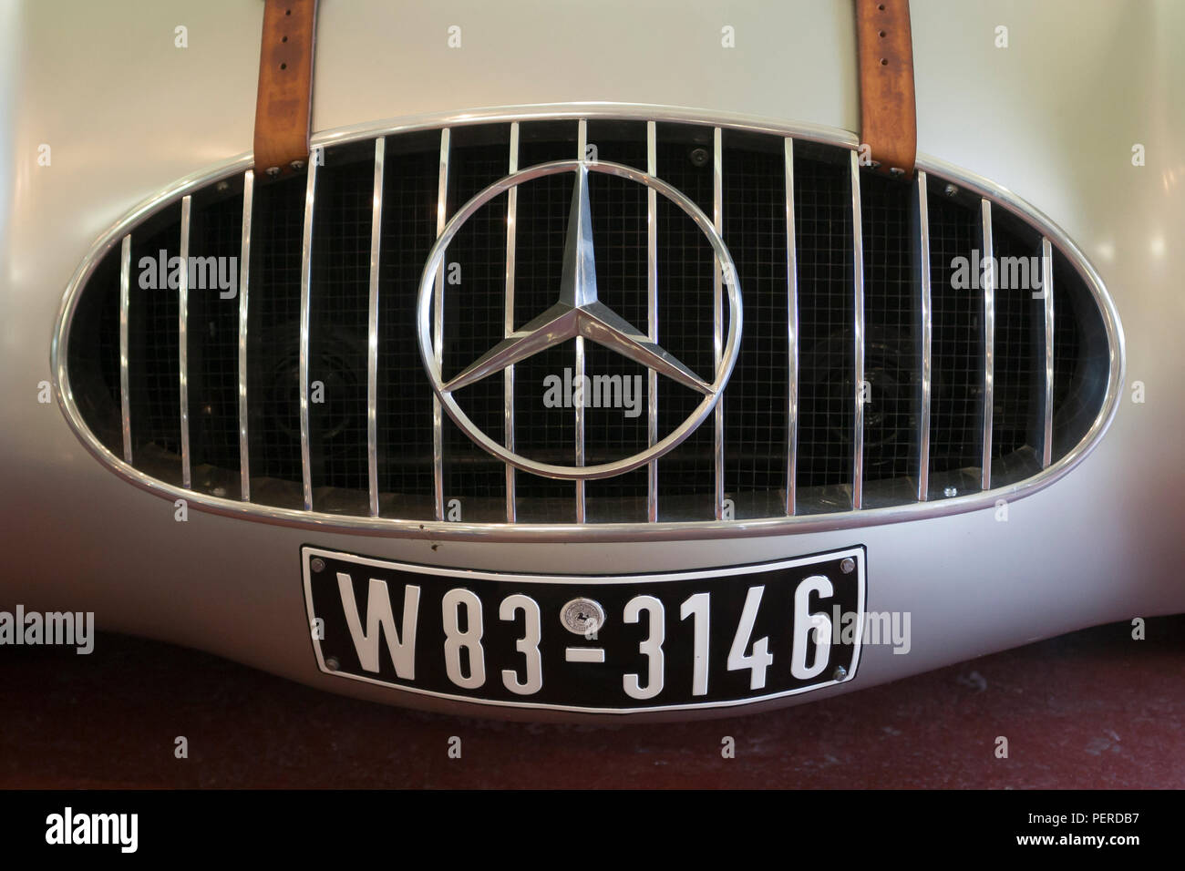 Front Grill of a Mercedes SK4225 at the Donington Park Grand Prix Collection - Stock Image
