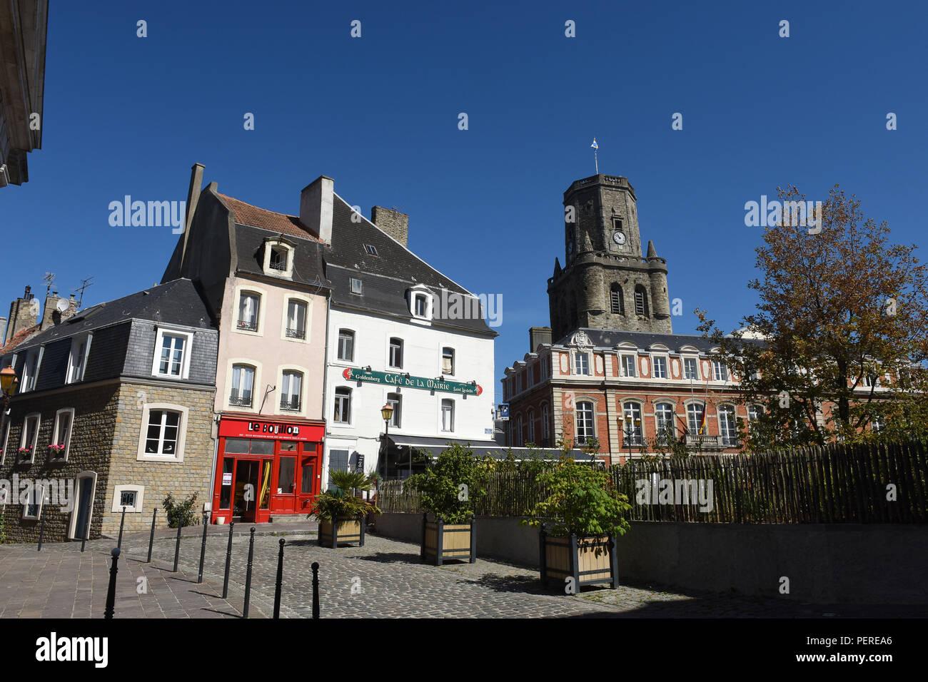 Boulogne-sur-Mer in northern France 2018 - Stock Image