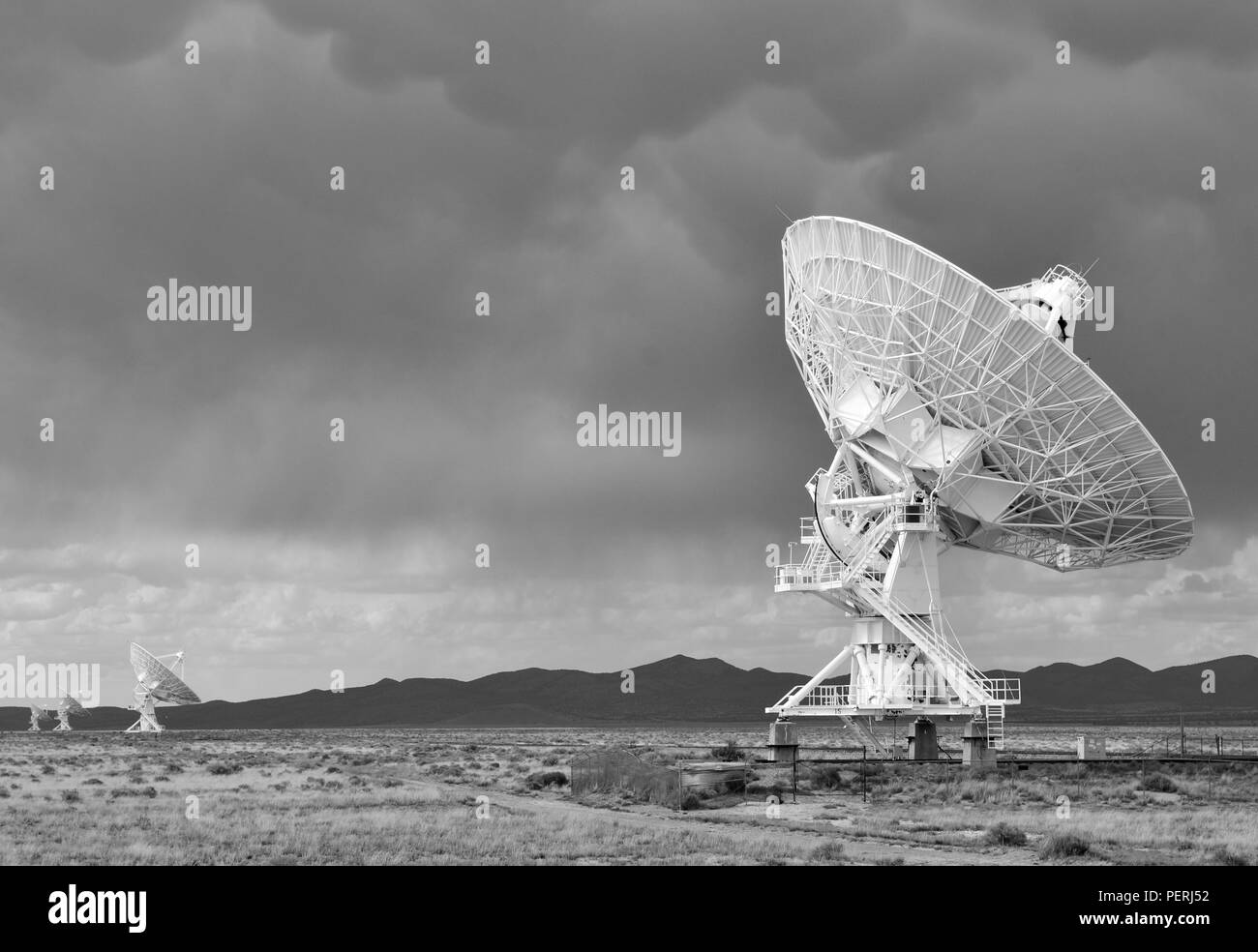 Very Large Array satellite dishes, New Mexico, USA Stock Photo