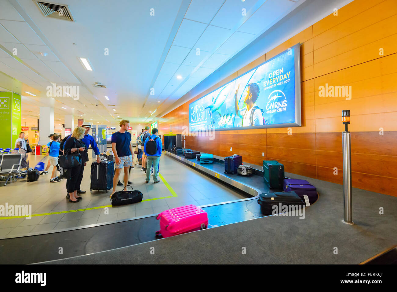 Baggage carousel at Cairns airport, Arrivals Terminal, Far North Queensland, FNQ, QLD, Australia - Stock Image