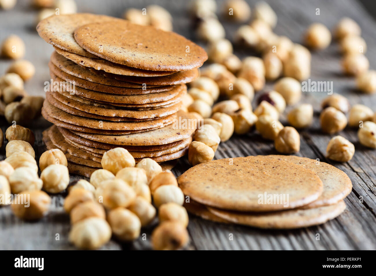 Tegole, Traditional biscuits from Italy's Aosta Valley - Stock Image