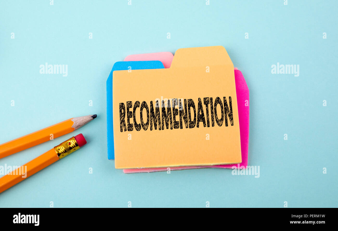 Recommendation, Business Concept - Stock Image