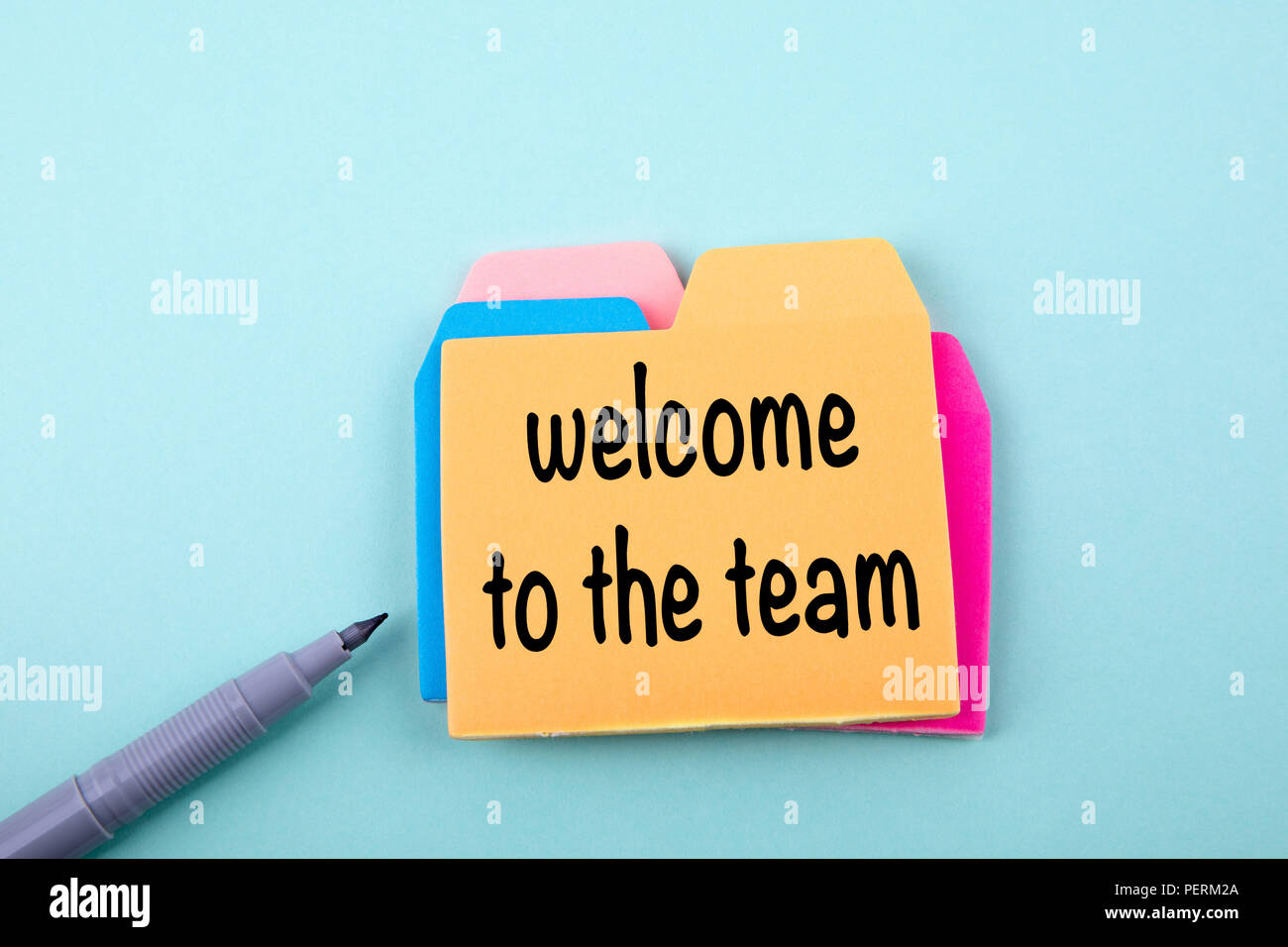 welcome to the team - Stock Image