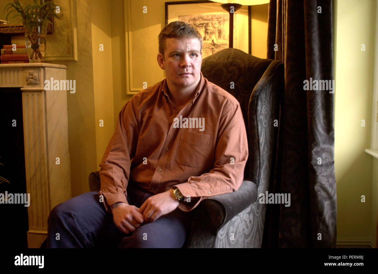 London,England,UK: March 13,2000. TREVOR REES-JONES The Bodyguard who survived the car crash in Paris that killed Princess Diana. Talking about his bo Stock Photo