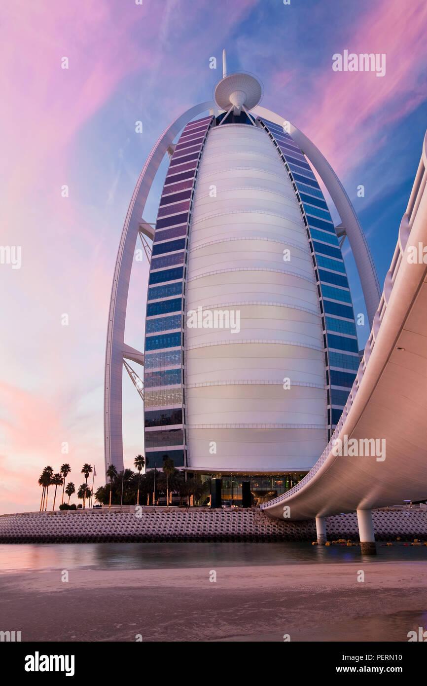 The luxery Burj Dubai Hotel, Dubai, UAE, United Arab Emirates - Stock Image
