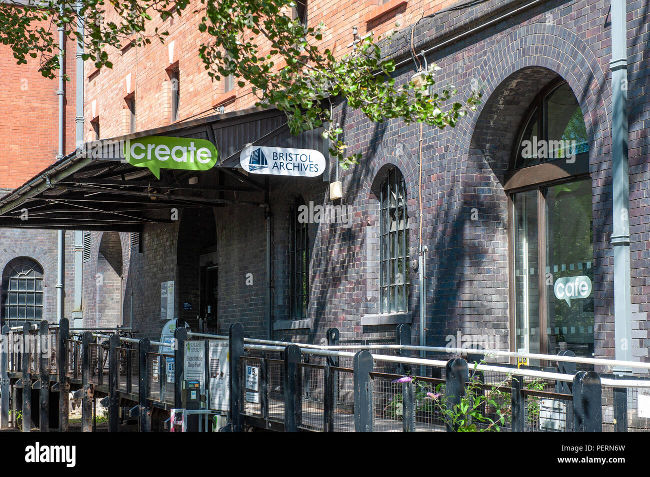 Entrance to Create Centre and Bristol Archives, Bristol, UK. - Stock Image