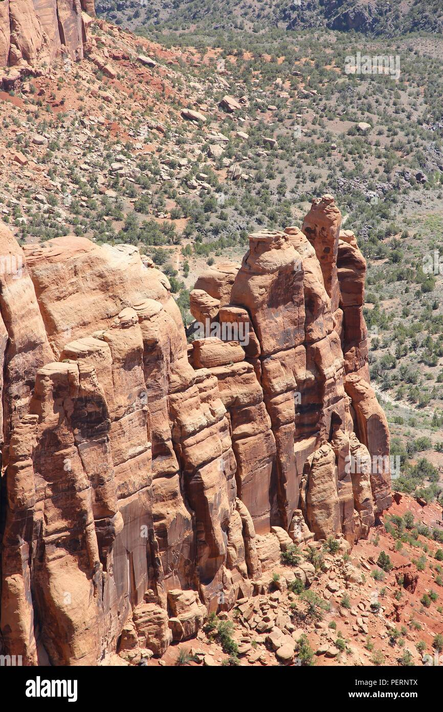 Colorado National Monument in the United States. Part of National Park Service. Monument Canyon. - Stock Image