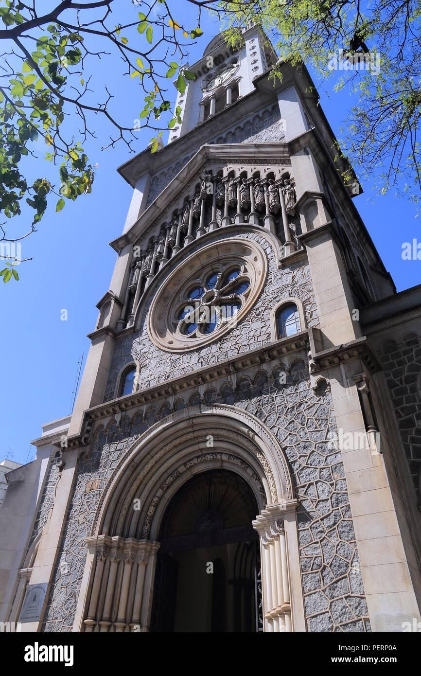 Sao Paulo, Brazil. Nossa Senhora da Consolacao - Romanesque Revival style church in downtown. - Stock Image