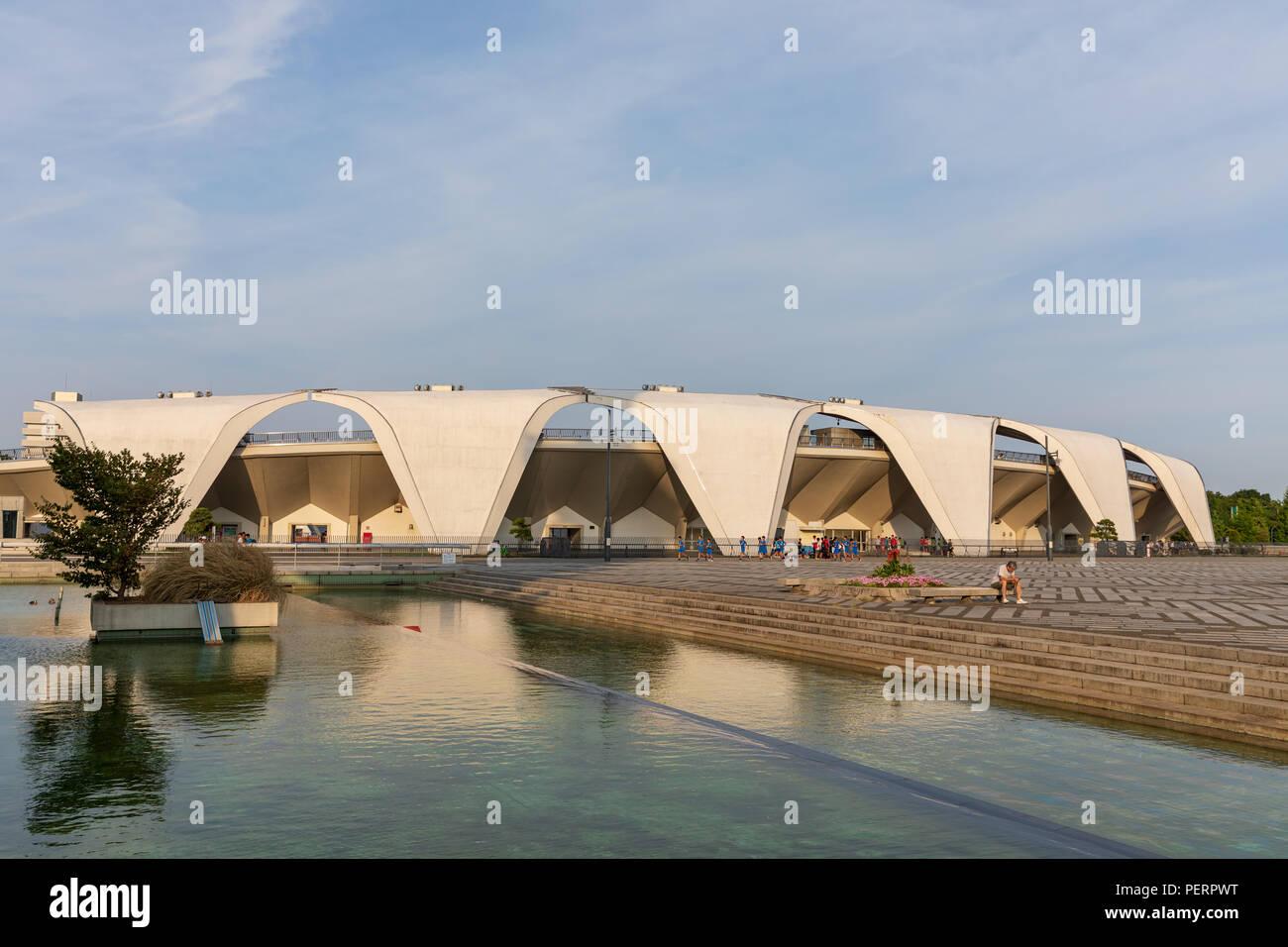 Komazawa Olympic Park Stadium (Murata Masachika Architects), built for the 1964 Summer Olympics in Tokyo, Japan Stock Photo