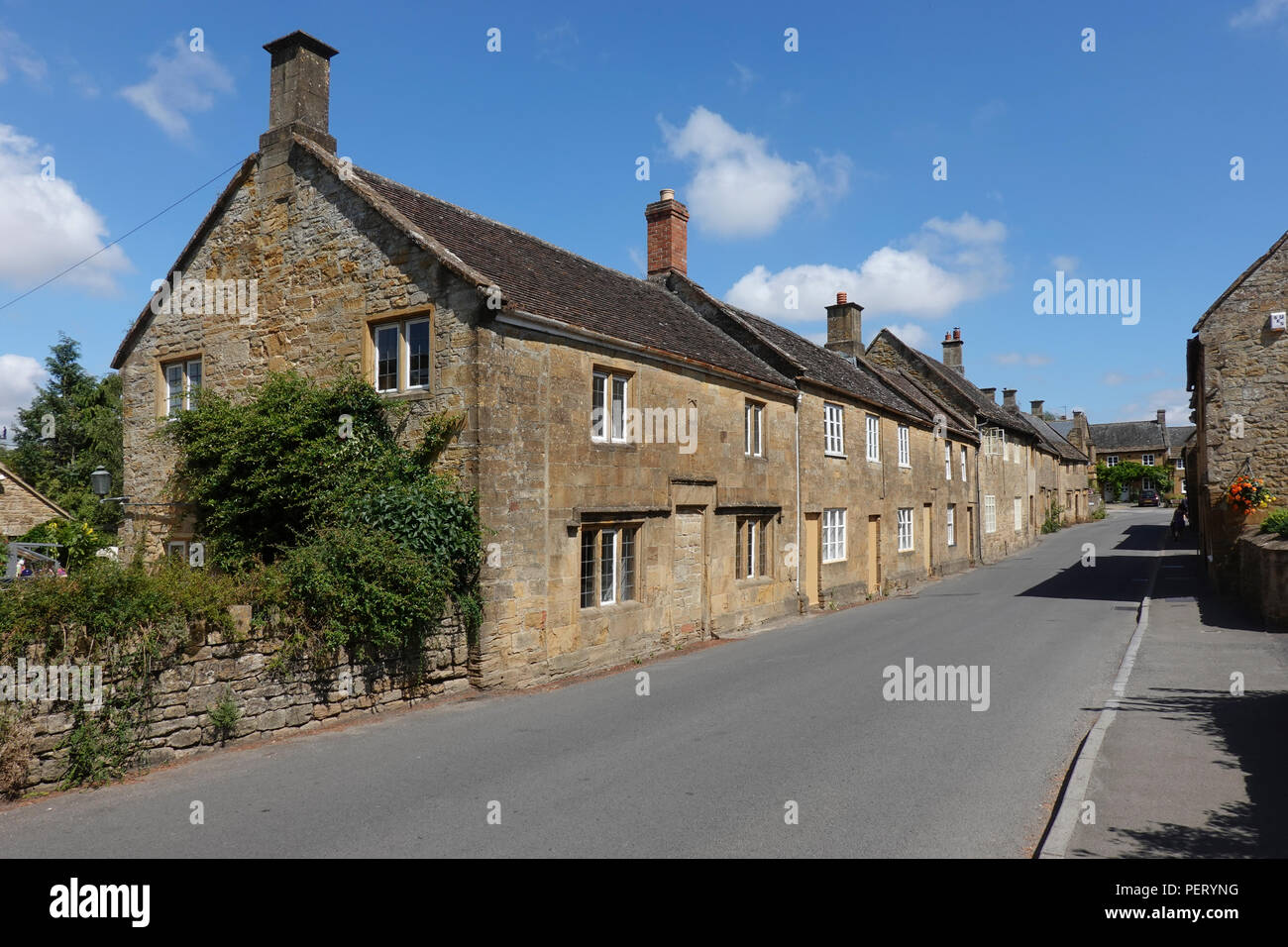 Middle Street, Montecute, Somerset -1 - Stock Image