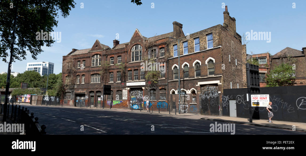 Former Caird and Rayner Workshop, Warehouse and Offices, 777-783 Commercial Road, London, UK - Stock Image