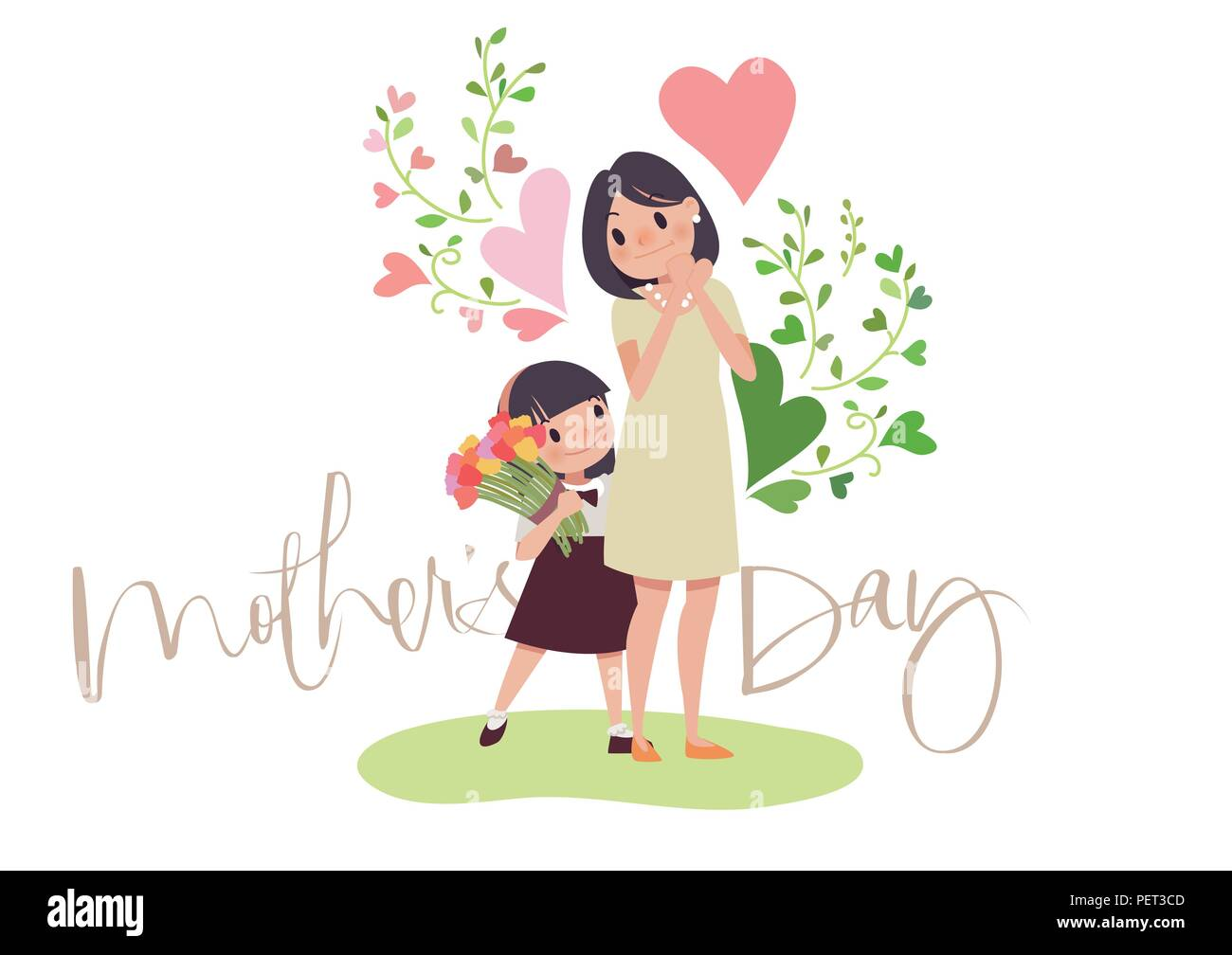 Vector - May is Family Month. Vector illustration. 001 - Stock Vector