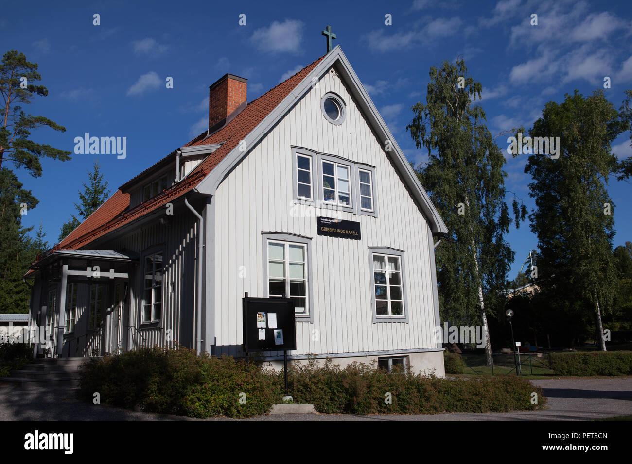 Gribbylunds kapell, chapel, Täby (Sweden) - Stock Image