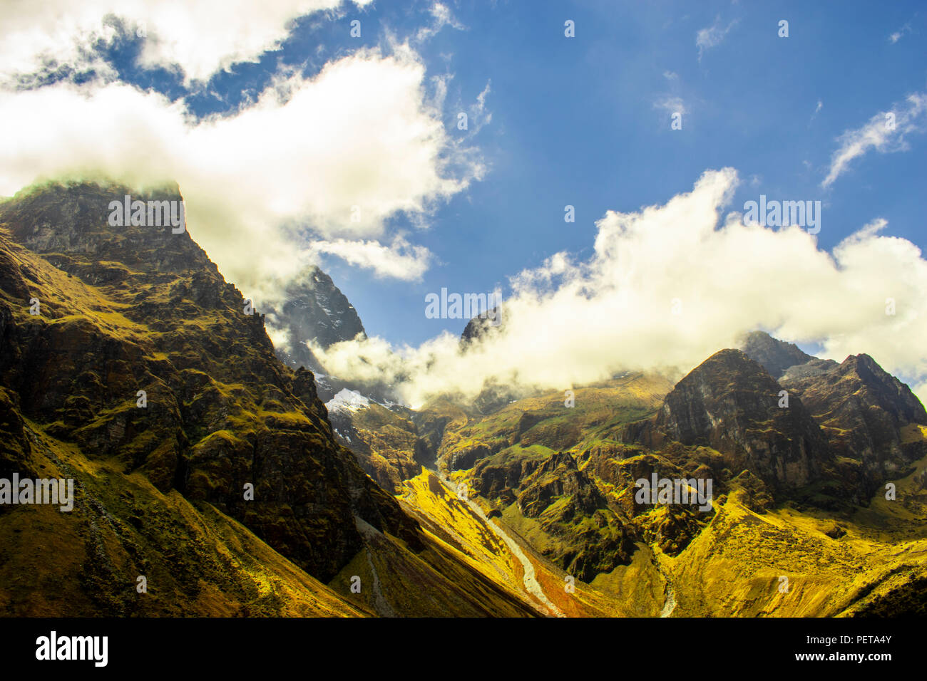 Mighty mountains in traveling - Stock Image