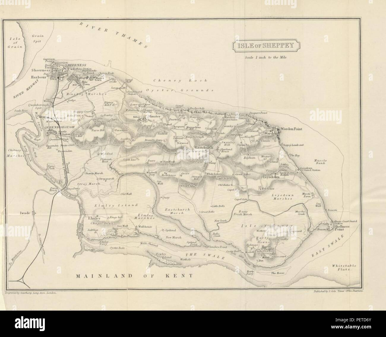 Europe Maps Art Large 1939 Map Thames Estuary Medway Southend-on-sea Sheerness Margate Clacton