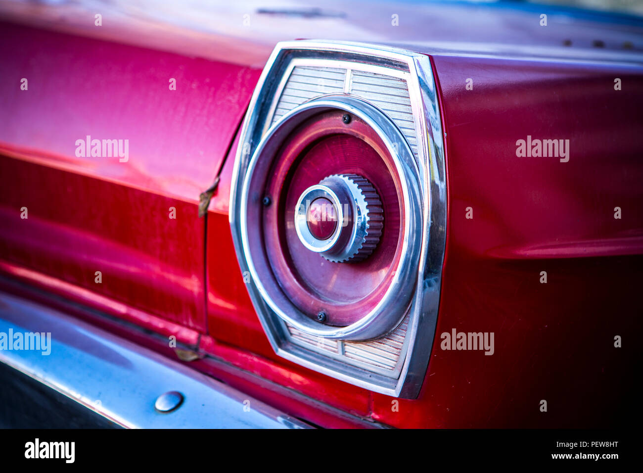 Derelict car tail light - Stock Image
