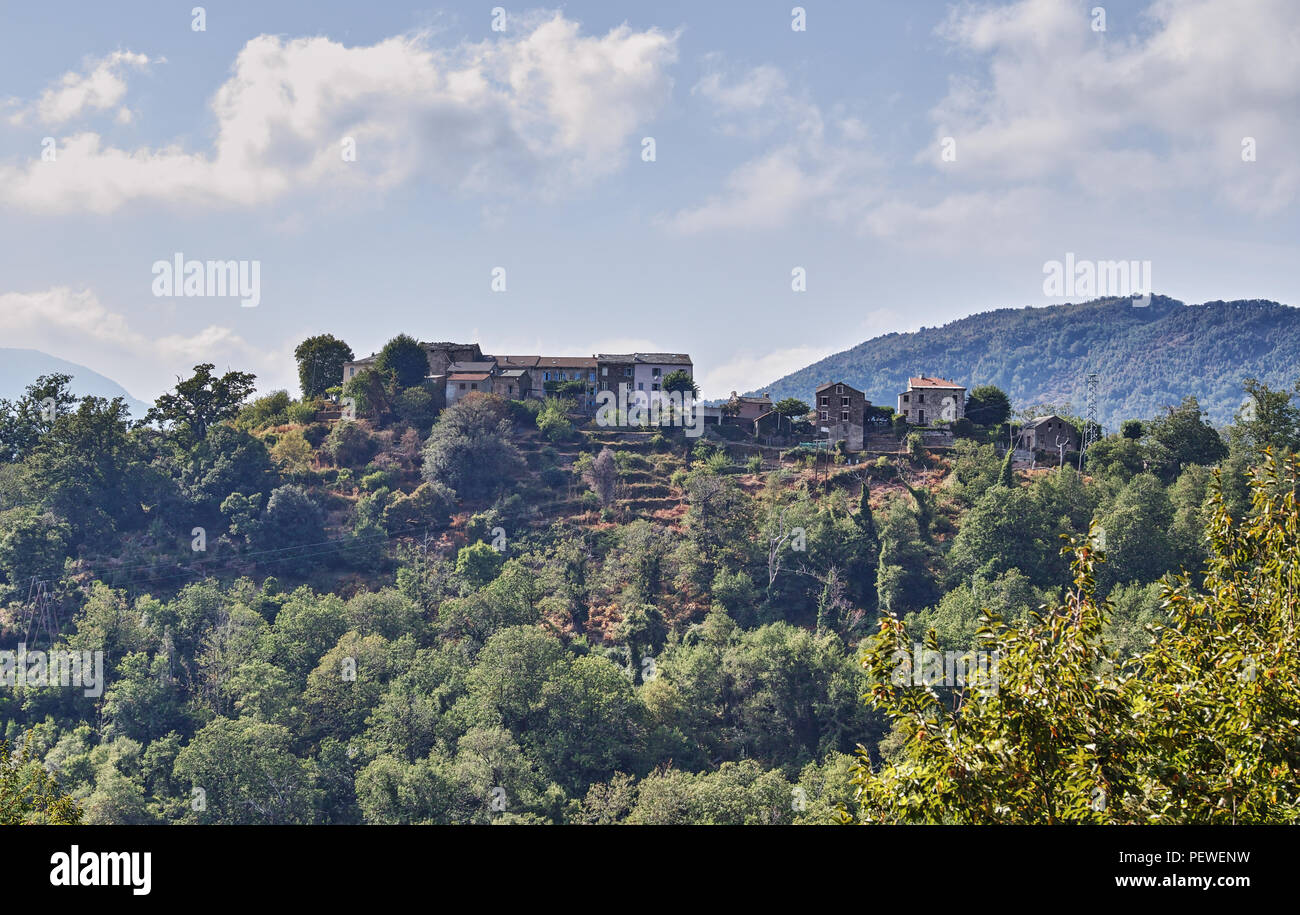 Corsica landscapes France Europe - Stock Image