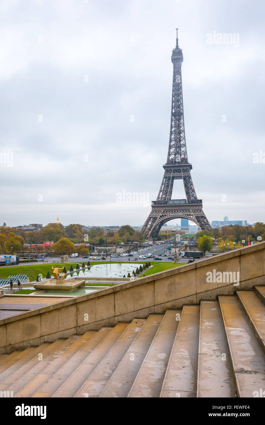 eiffel tower in Paris , France - Stock Image