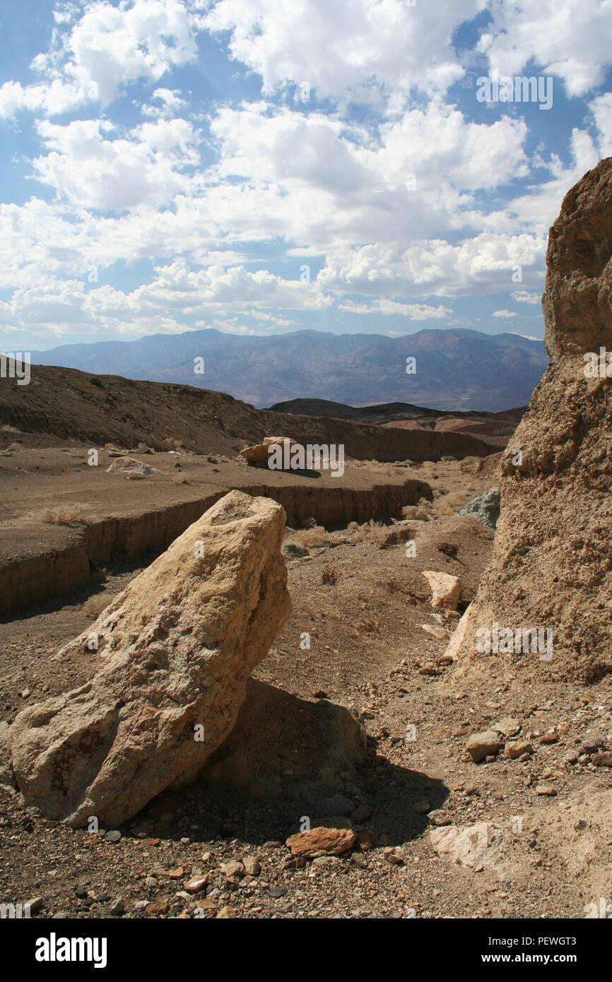 Dry River bed, Geology of Death Valley National Park, Death Valley, California, USA Stock Photo