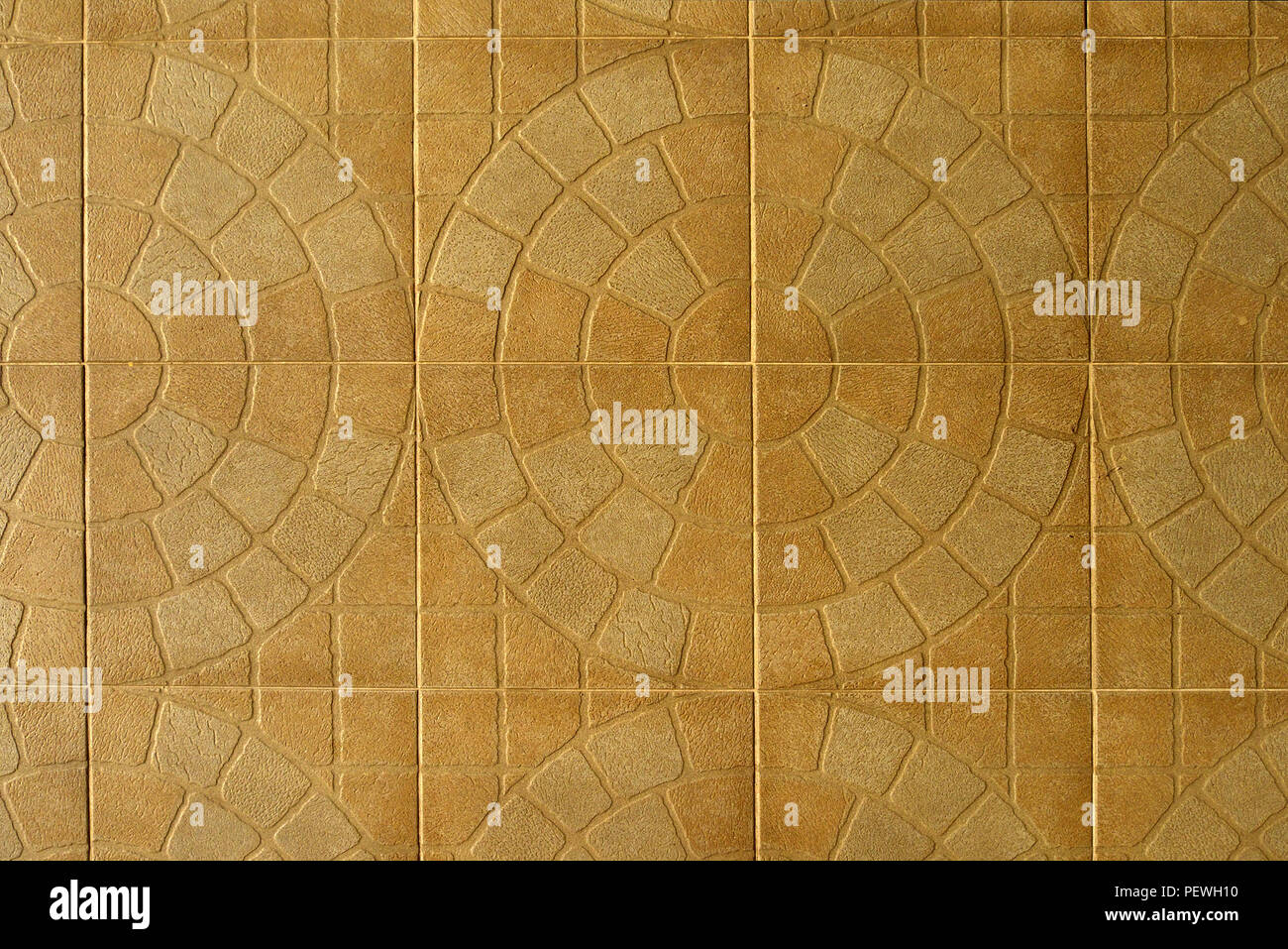 Beautiful Ceramic Tile Mosaic With Interesting Pattern And Texture