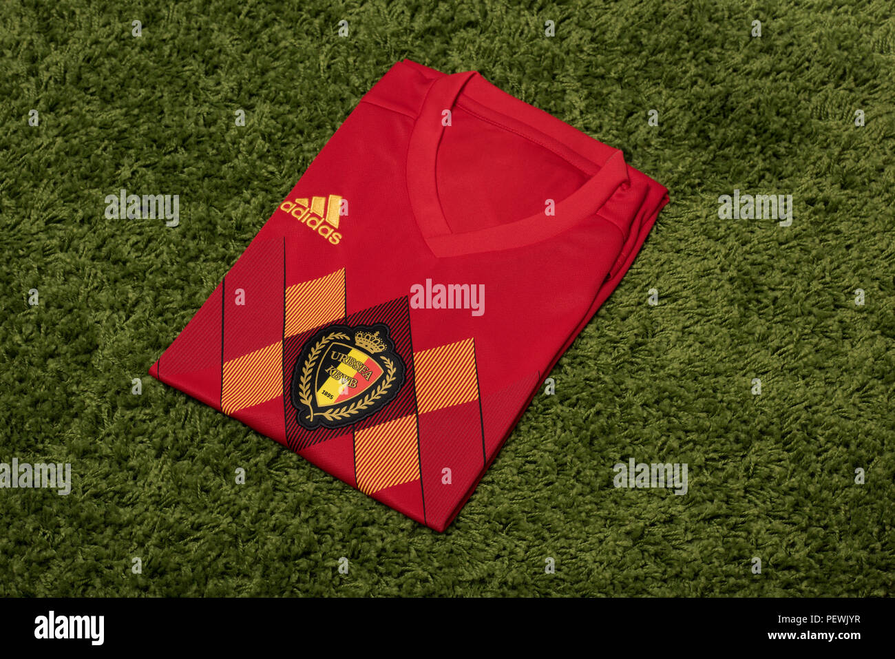 7a0b6815cfa Belgium National Football Team Kit Stock Photos   Belgium National ...