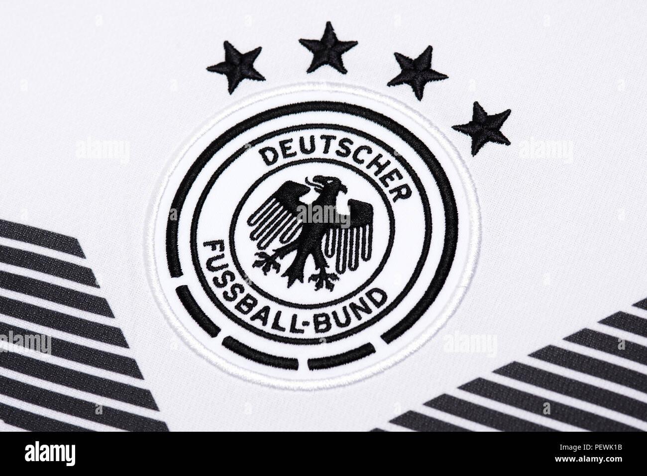 Germany Nationa Football team kit. FIFA World Cup 2018. - Stock Image