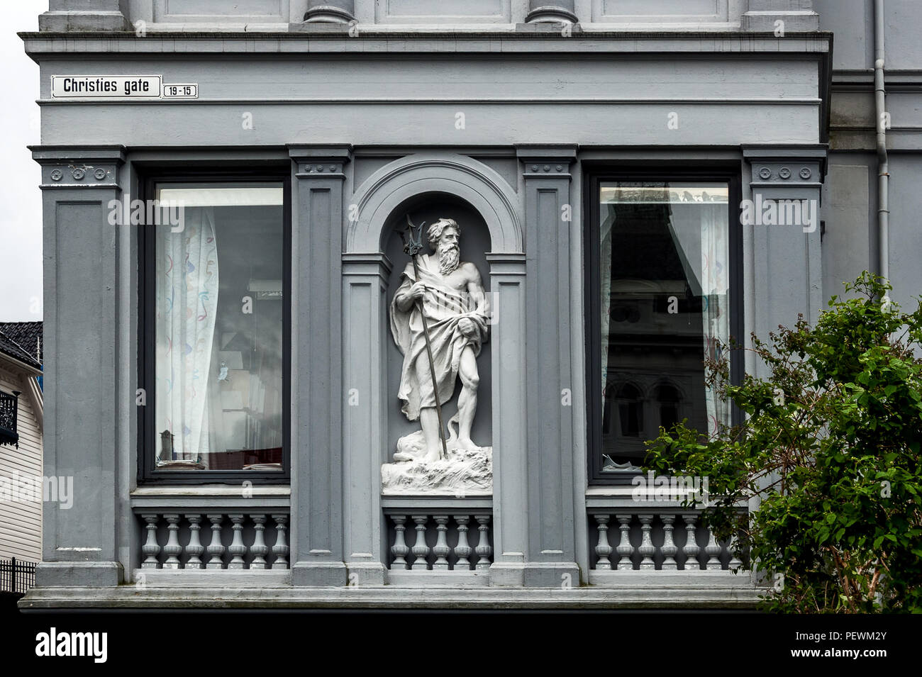 Ornament in Christies Gate, Bergen, Norway - Stock Image
