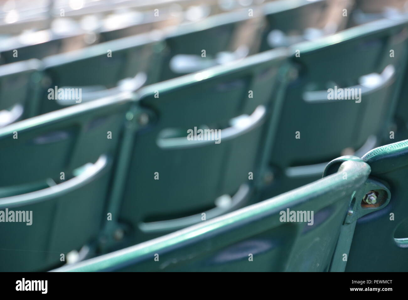 Seats at Orioles Stadium in Maryland - Stock Image