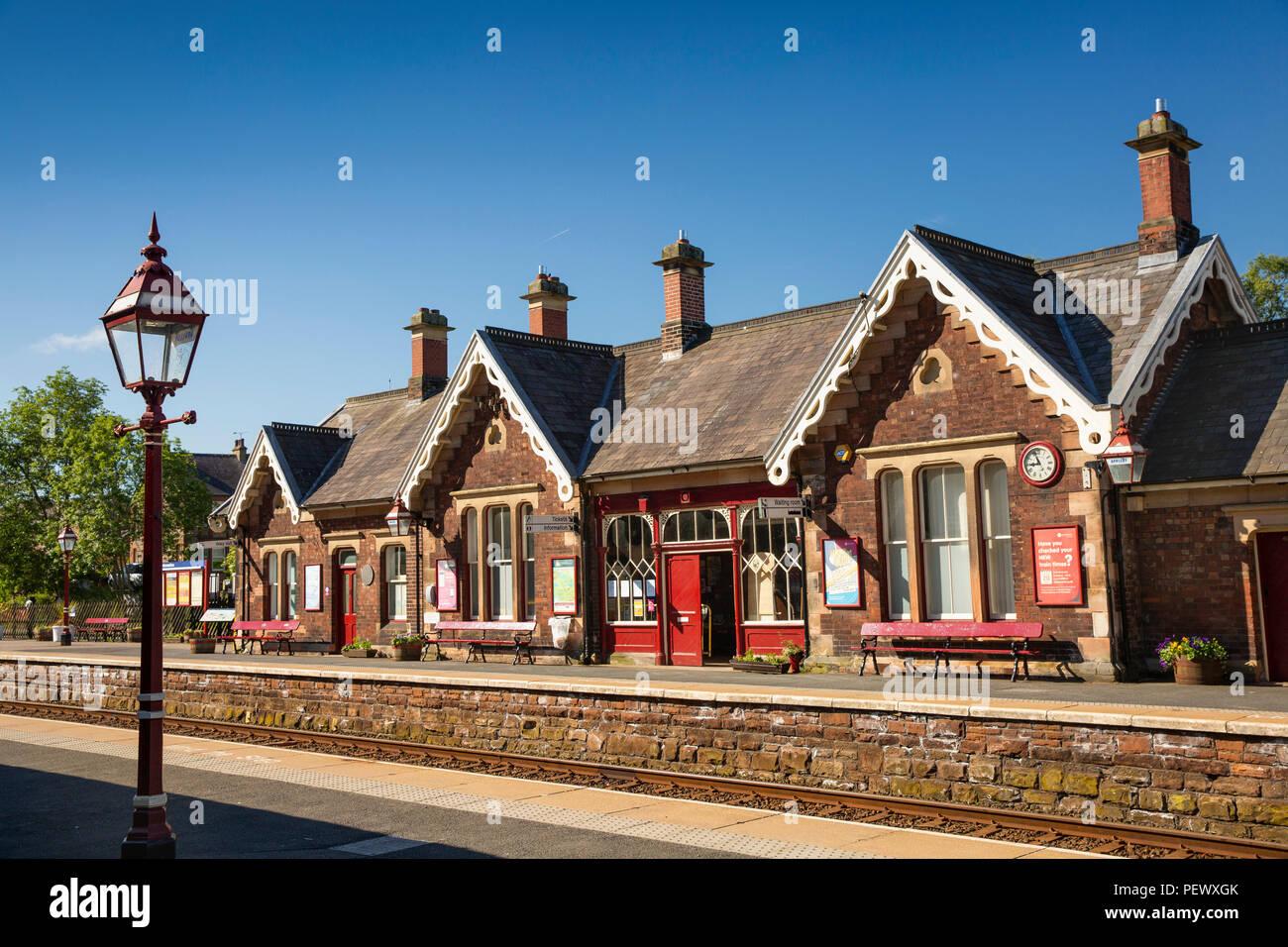 UK, Cumbria, Eden Valley, Appleby Station on Settle to Carlisle Line - Stock Image
