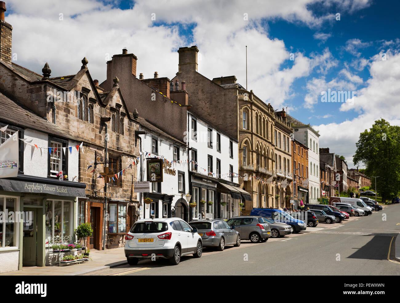 UK, Cumbria, Eden Valley, Appleby, Boroughgate - Stock Image