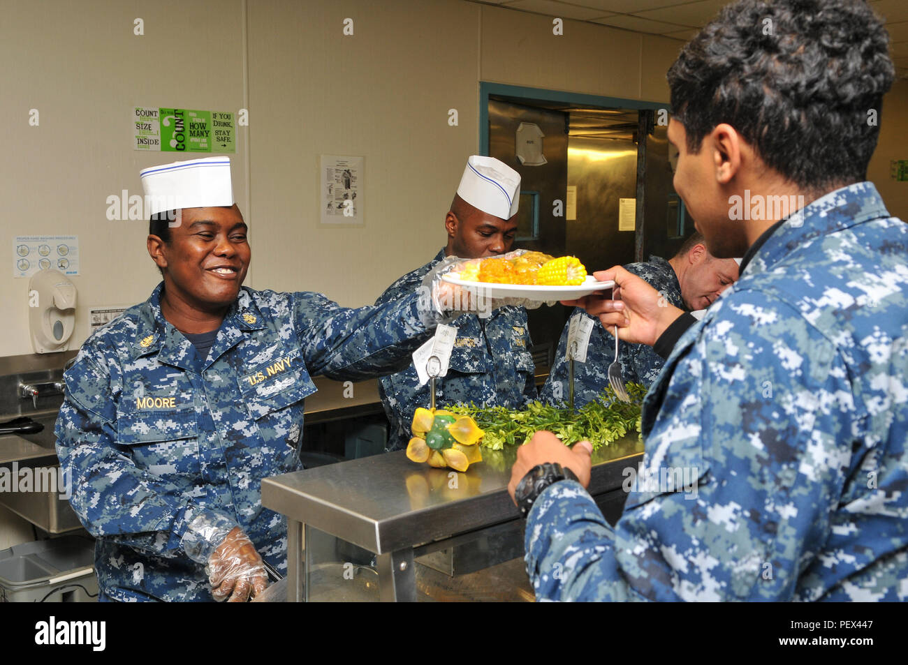 Sailors aboard USS Abraham Lincoln host a luncheon to celebrate African American Heritage Month. (Navy photo/MCSN Michael Fiorillo) - Stock Image