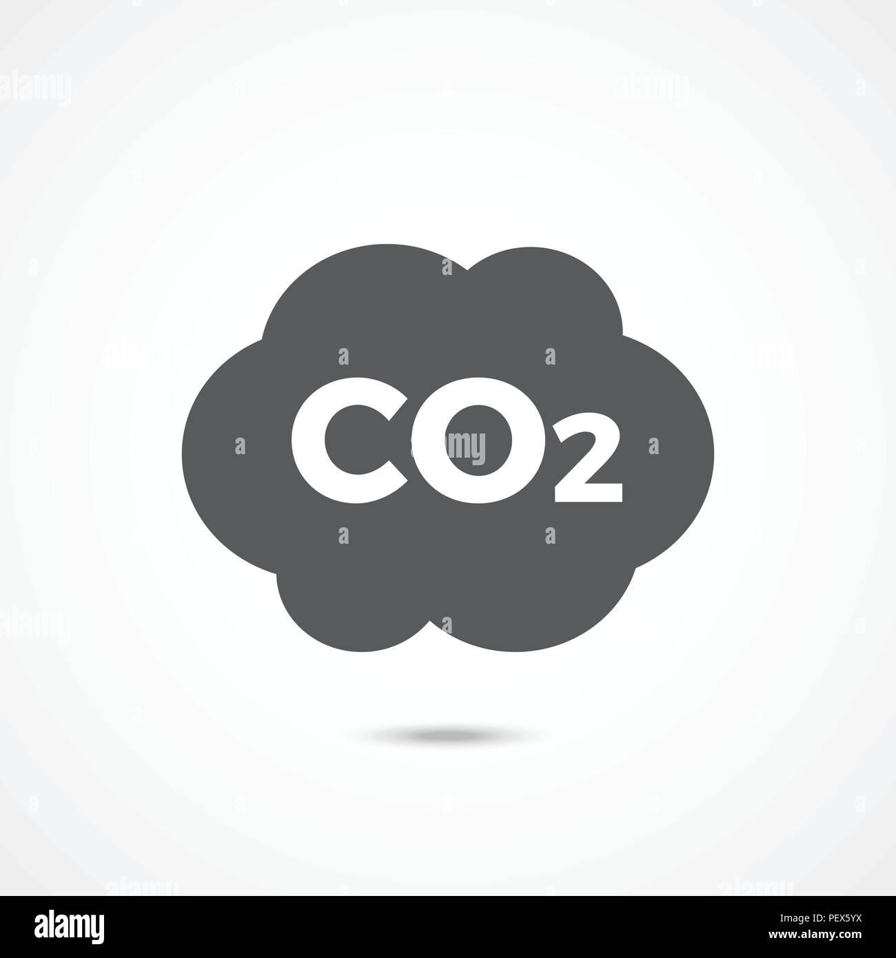 CO2 icon on white - Stock Image