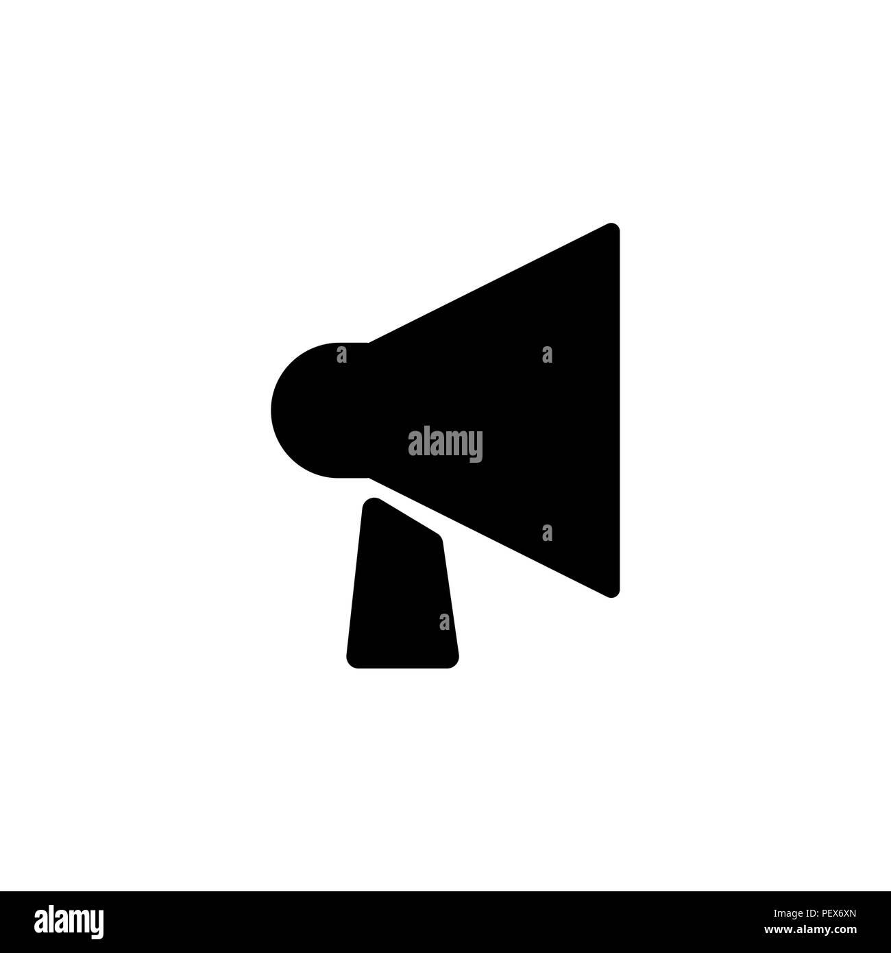 mouthpiece icon. vector illustration black on white background - Stock Image