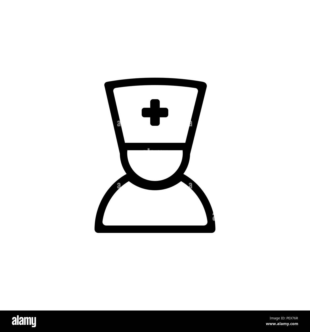 doctor icon. vector illustration. nurse symbol (sign) - Stock Vector
