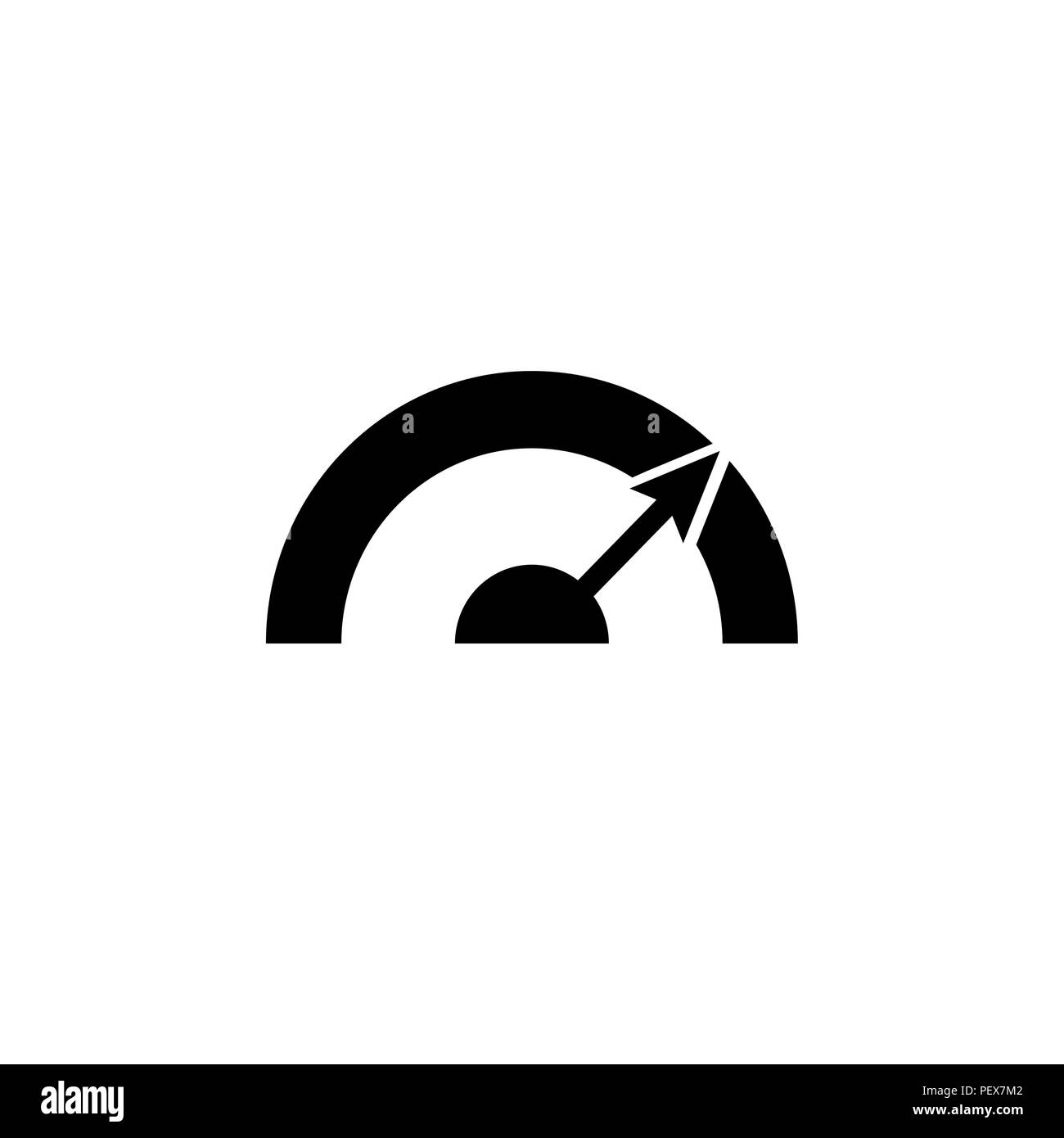 Pictograph of speedometer vector illustration black on white background
