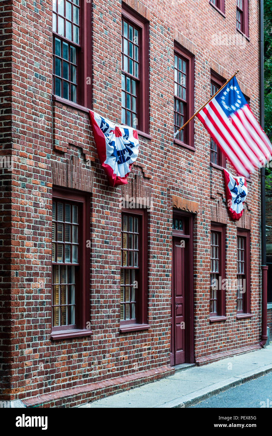 Clough House, North End, Boston, Massachusetts USA - Stock Image