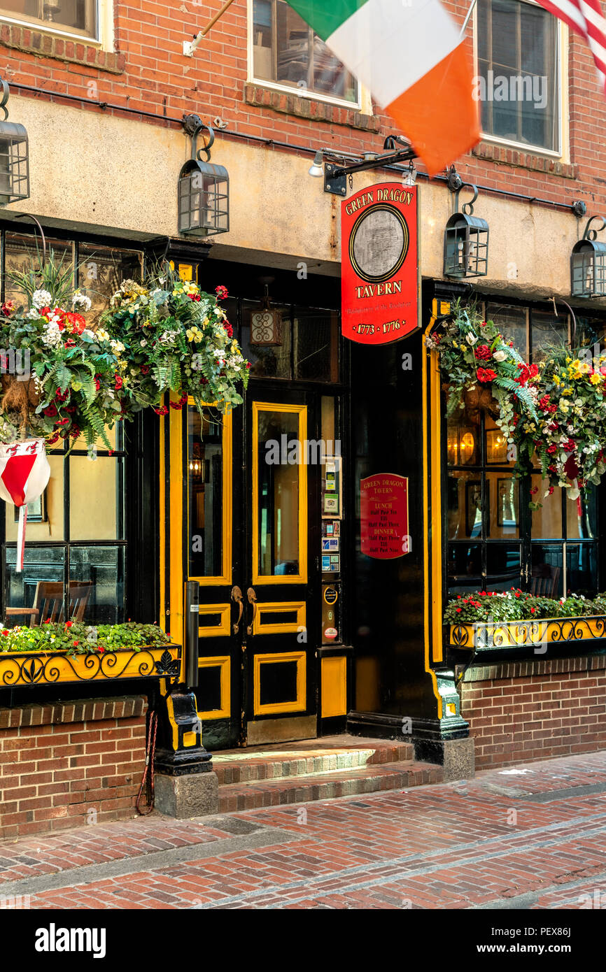 Green Dragon Tavern, North End, Boston, Massachusetts USA - Stock Image