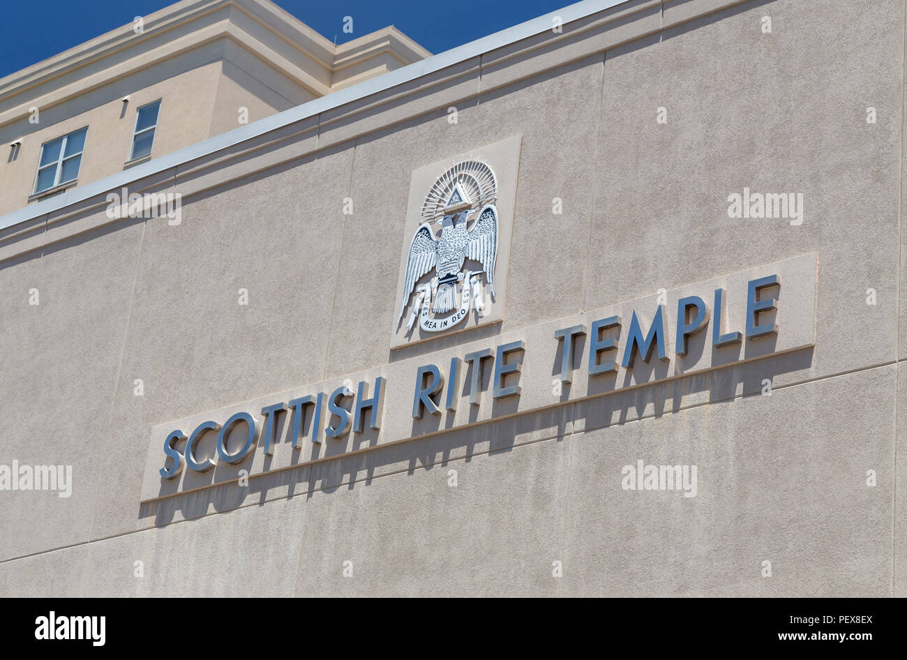 Scottish Rite Temple in Knoxville, TN. - Stock Image