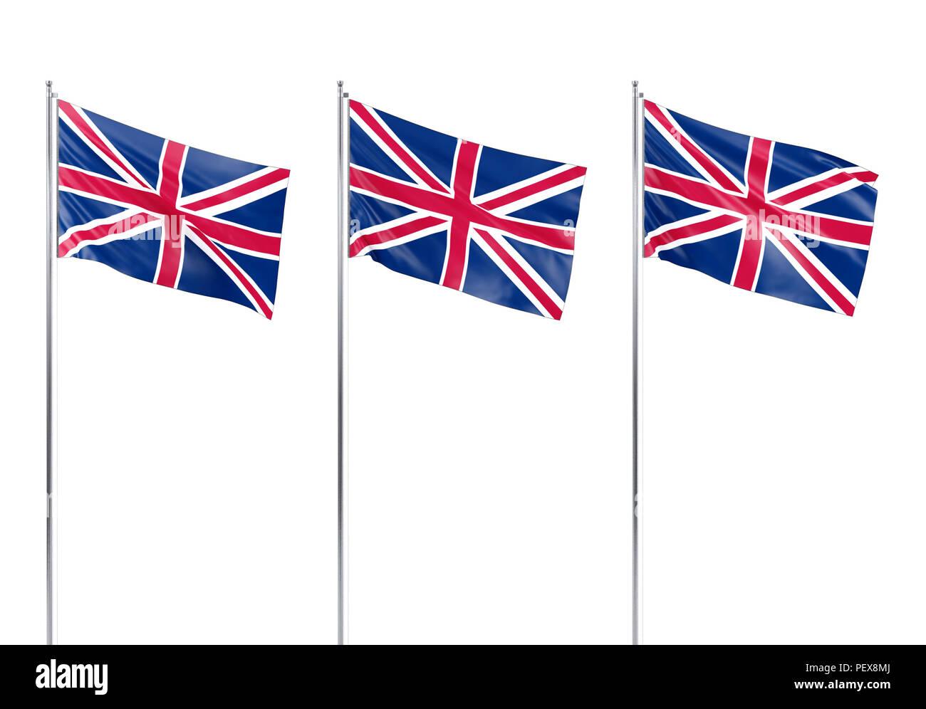 Flag of United Kingdom, 3D rendering - Stock Image