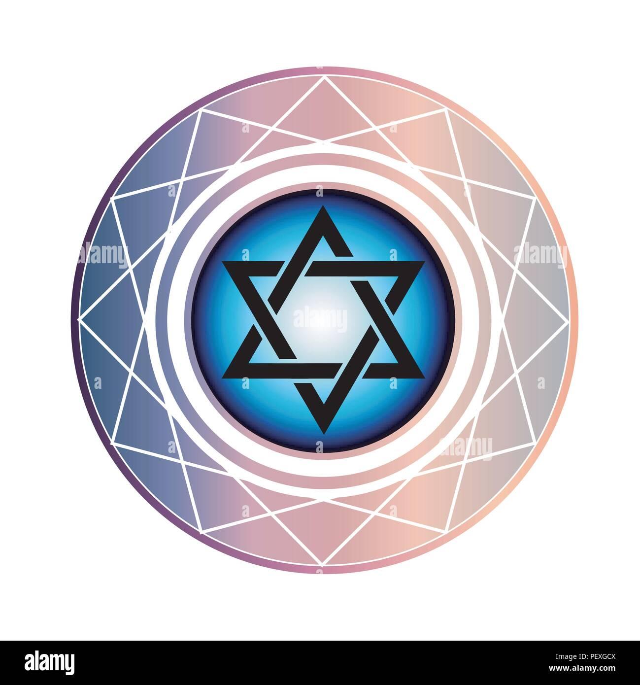 Jewish Star of David - Stock Image