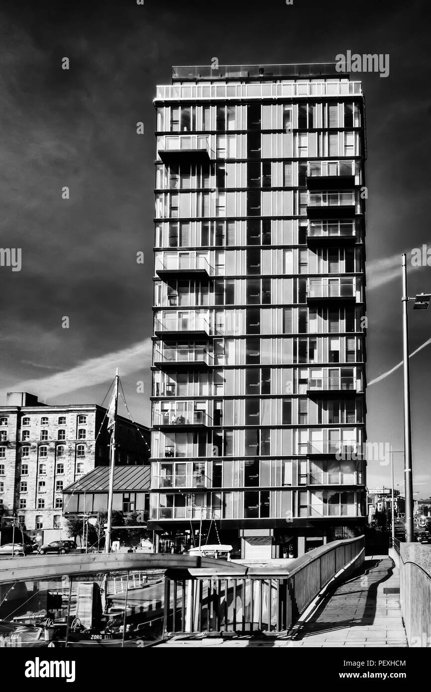 Dublin, Ireland, March 2018, view of a modern building in the Grand Canal area - Stock Image