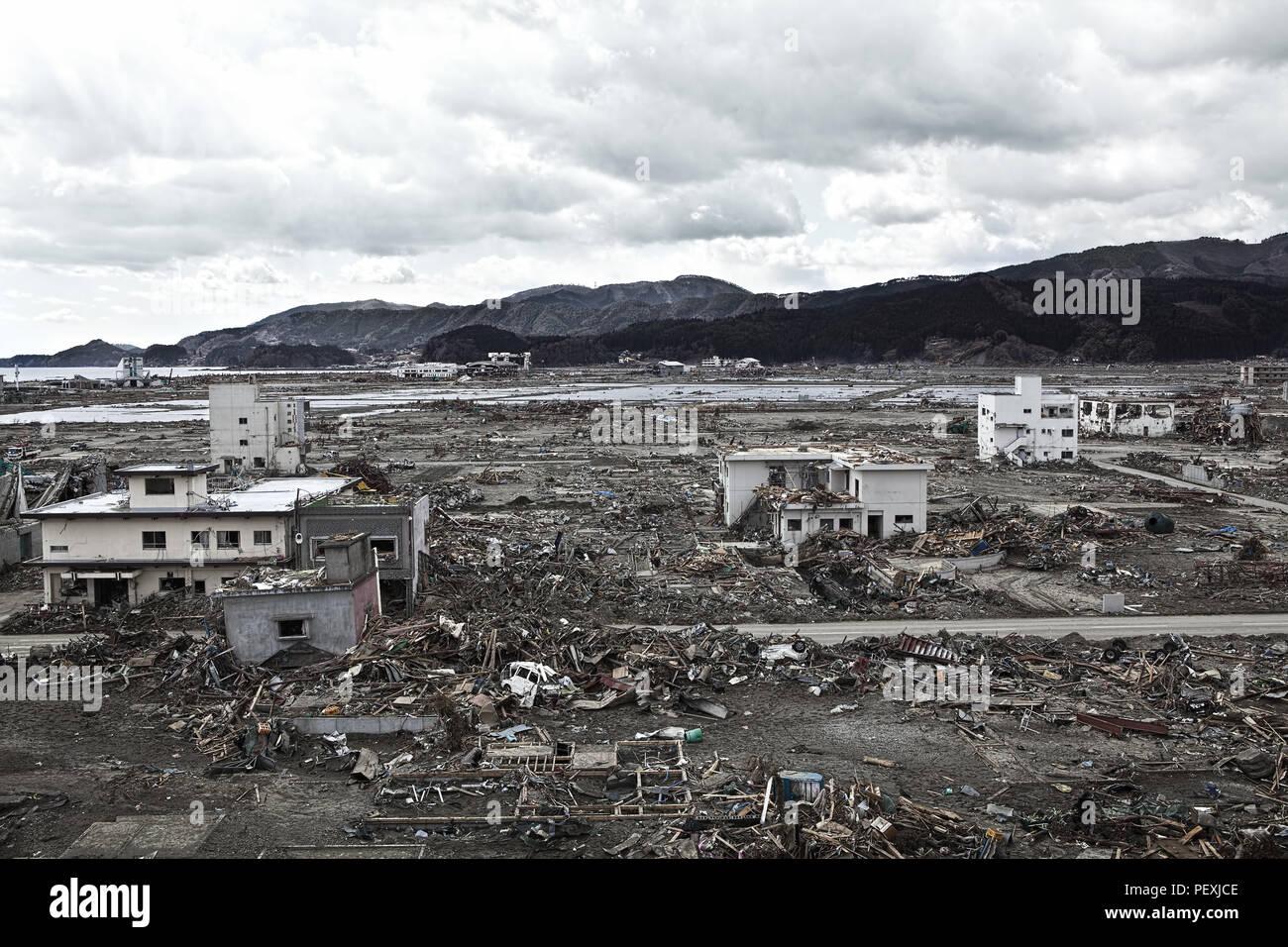 Tsunami :  04/30/2011 Fukushima japan - Stock Image