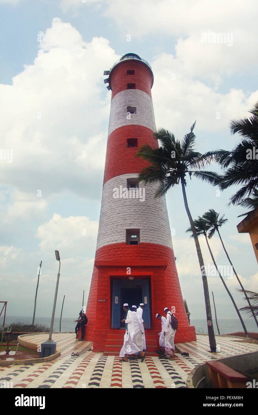 Vizhinjam lighthouse, Kerala, India - Stock Image