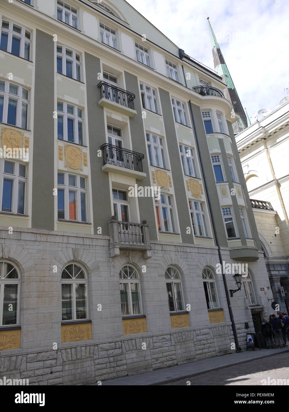 Former KGB building in Tallinn (Estonia) during soviet occupation is now a museum Stock Photo