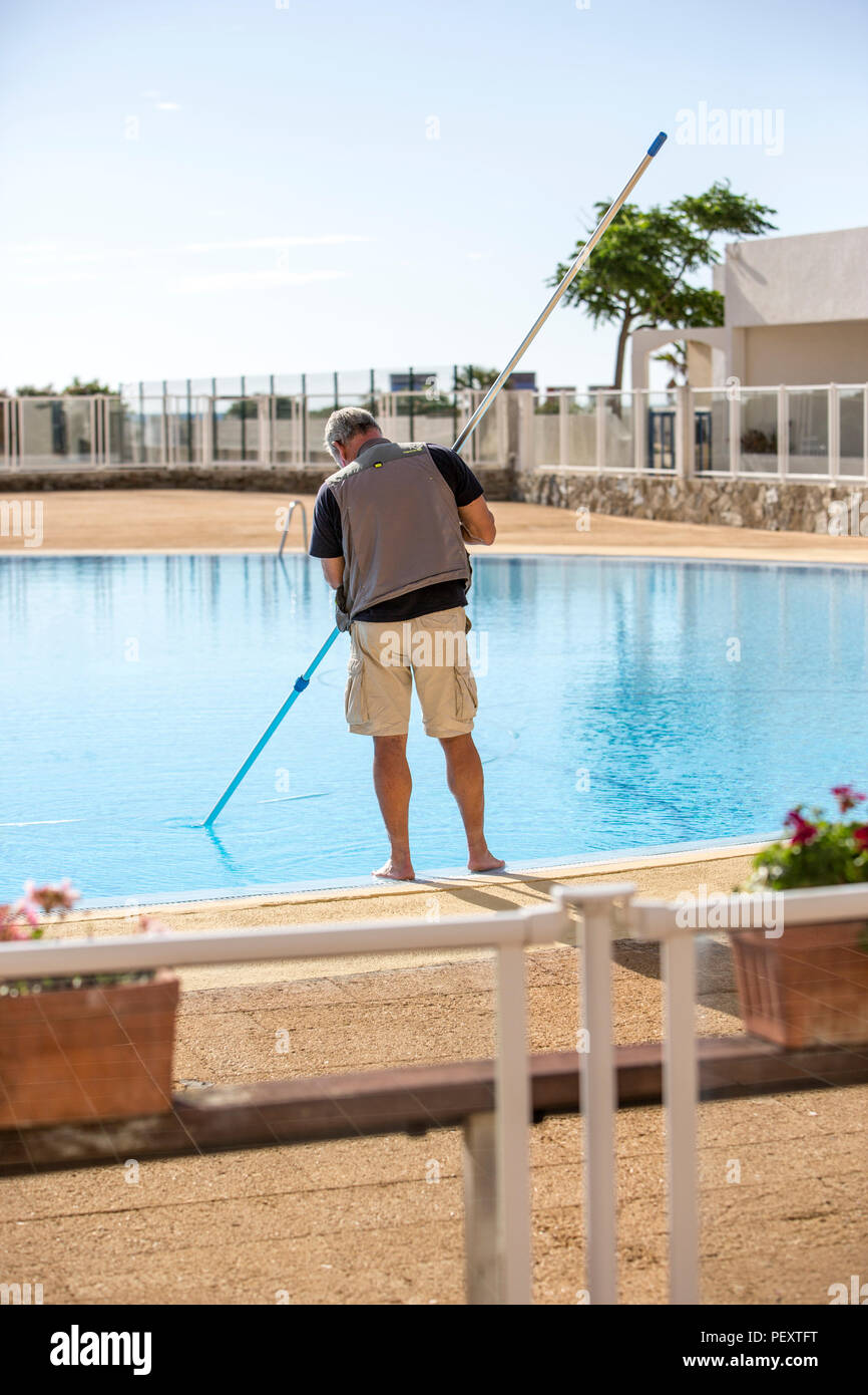 Pool cleaner - Stock Image
