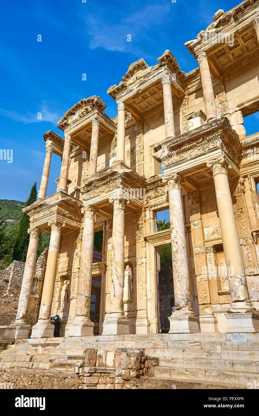 Library of Celsus, Ephesusy, Izmir, Turkey - Stock Image