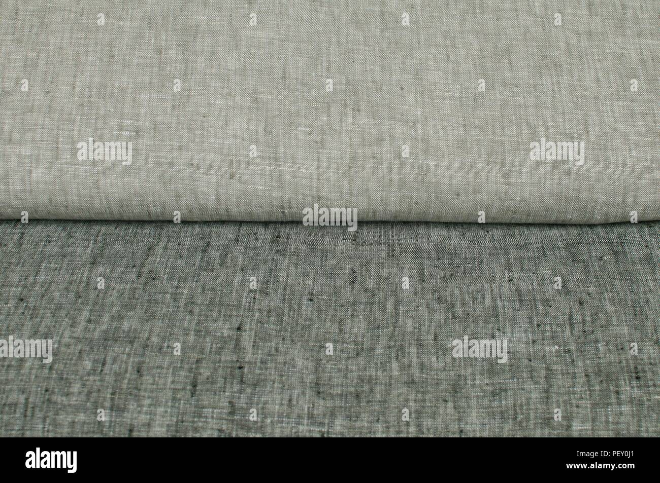 Melange Gray Linen Fabric Texture Surface Closeup As Textile Background